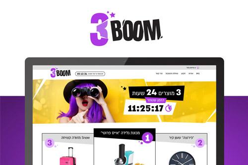 עיצוב ובניית אתר מכירות | 3BOOM